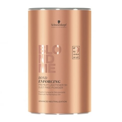 Обесцвечивающий Бондинг-порошок 9+ Schwarzkopf Professional Blondme Bond Premium Lightener 9+ Dust Free Powder