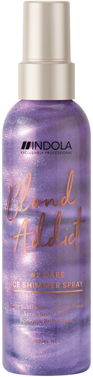 Спрей для холодных оттенков блонд Indola Blond Addict Ice Shimmer Spray